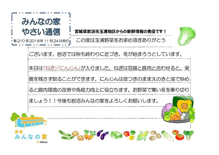 玉浦やさい通信_20181124